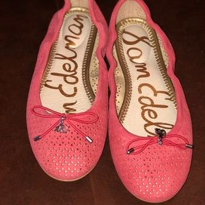 Coral flats. Never worn outside the house.